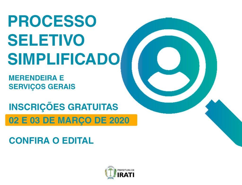 PSS Educação de Irati abre vagas para merendeira e serviços gerais